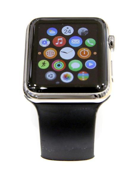 米アップルの腕時計型端末「アップルウオッチ」