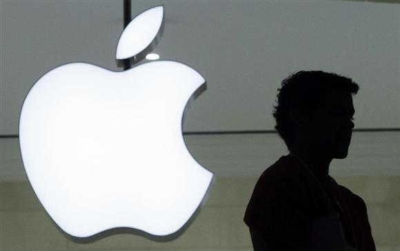 米アップルのロゴ(AP)