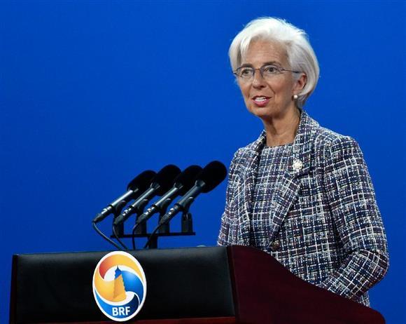 IMFのラガルド専務理事(AP)