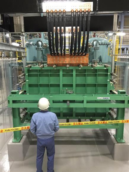旭化成が横浜市で実証実験するグリーン水素分解システム=旭化成提供