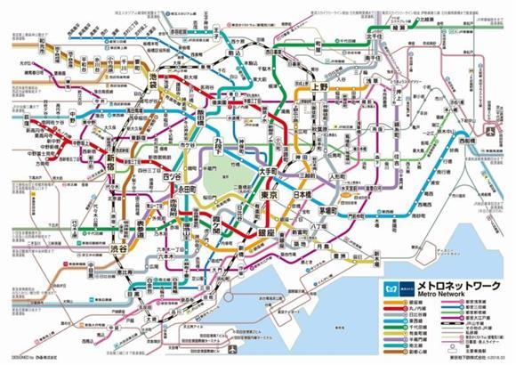 東京 メトロ 路線 図 簡易 版