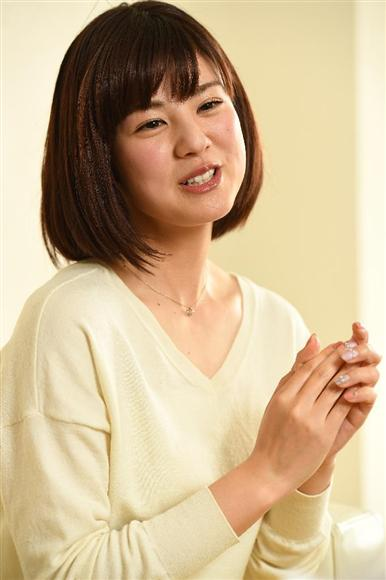 「めざましテレビ アクア」のメインMCに抜てきされた曽田麻衣子。優しい笑顔で朝からあなたを元気にします! =東京・恵比寿(撮影・加藤圭祐)