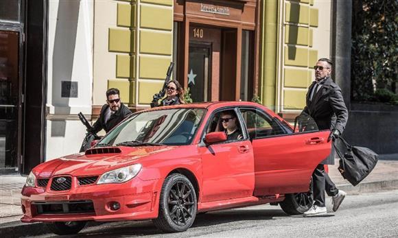 映画「ベイビー・ドライバー」のカーチェイスシーンに登場するスバルWRX