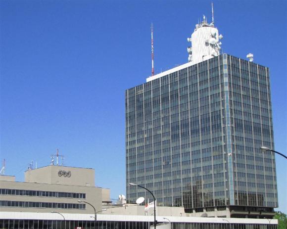 「クローズアップ現代」出演男性に訂正放送を求められたNHK。取材プロセスの確認作業中という=東京都渋谷区のNHK放送センター