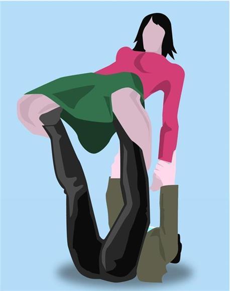 プロレス技の「つり天井固め」(別名 ロメロ・スペ... スカートの若い女性署員に「つり天井固め」