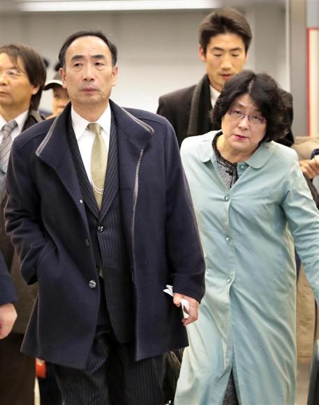 森友学園の籠池泰典氏(左)と妻の諄子氏(右)=山田哲司撮影