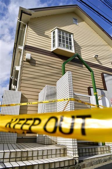白石隆浩容疑者の部屋から9人の切断遺体が見つかったアパート=11日午後、神奈川県座間市