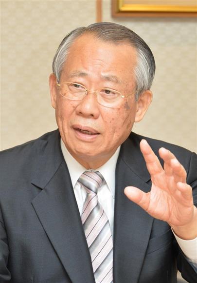 NHKの上田良一会長(伴龍二撮影)