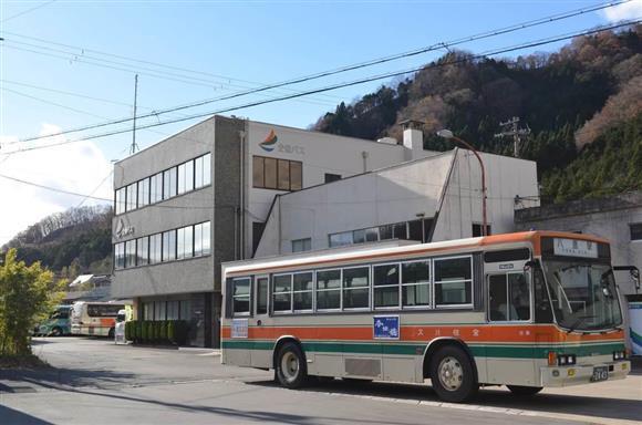 逆走した高速バスの運転手が勤務する全但バスの本社=兵庫県養父市八鹿町