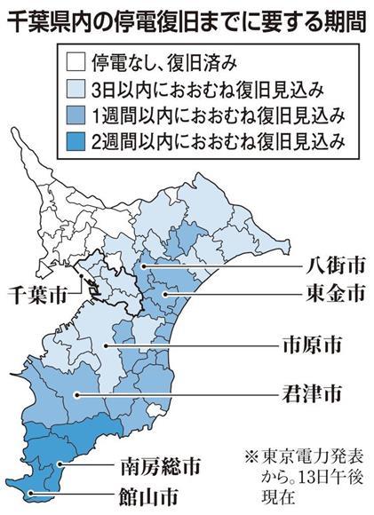 千葉 県 の 停電