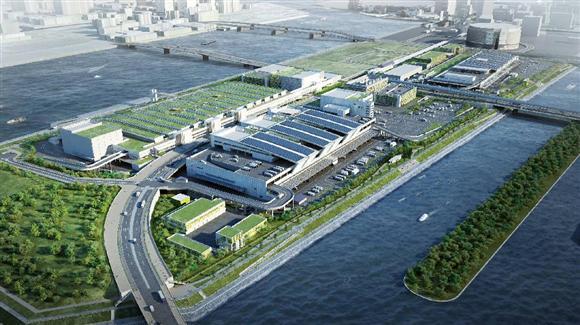 豊洲新市場のイメージ(東京都中央卸売市場のホームページより)