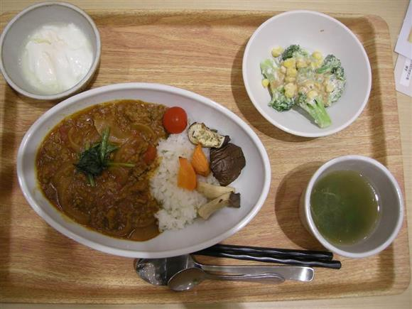 あきたタニタ食堂の野菜カレー定食、750円