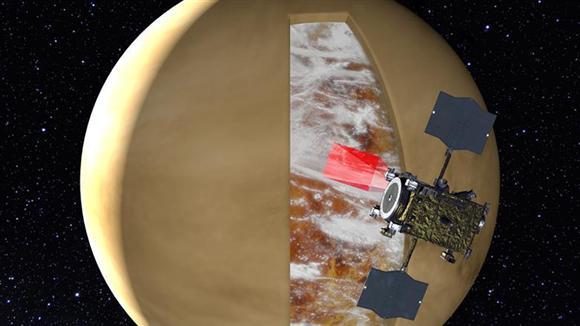 あかつきによる金星の観測イメージ図 (c)PLANET-C Project Team