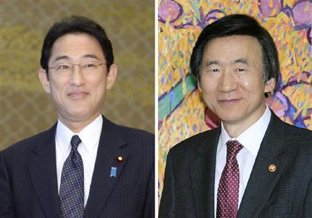 このニュースへ 岸田文雄外相、韓国の尹炳世外相  日韓外相が会談 首脳会談実現へ意見交換 日中会