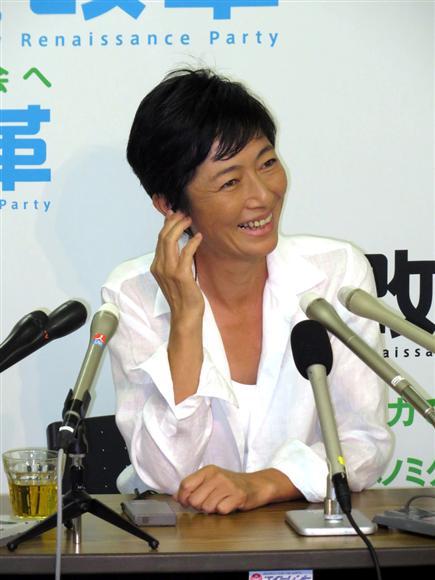 早々と敗北を認めたが、「選挙では知らなかったことをいろいろ学べた」と笑顔で振り返った高樹沙耶氏