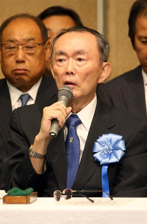 平沼赳夫元経産相「北朝鮮は極悪非道だ」 拉致問題の国民大集会に出席 ...