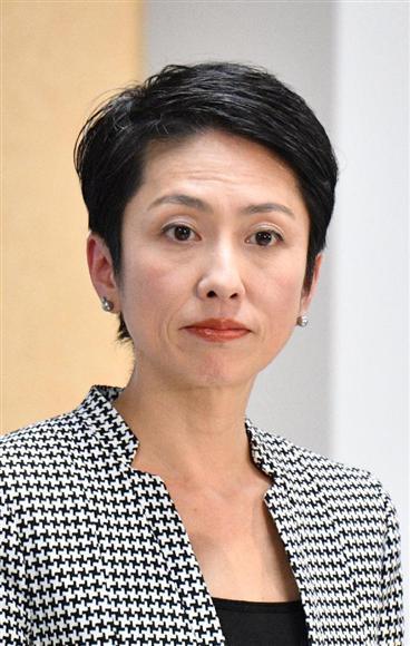 会見する民進党の蓮舫代表(斎藤良雄撮影)