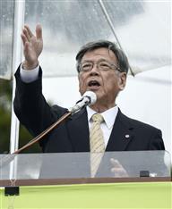 辺野古埋め立て 翁長知事「承認撤回を必ずやる」初明言 政府は効力停止へ