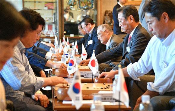 日韓議員が囲碁交流 14年ぶり日本で親善対局