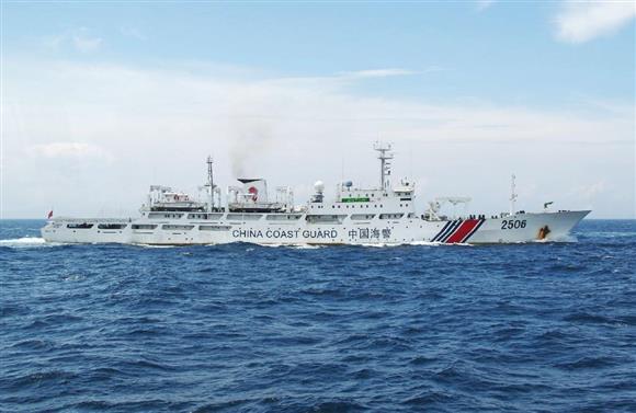 福岡・沖ノ島周辺に一時侵入した中国海警局の船=15日(第7管区海上保安本部提供)