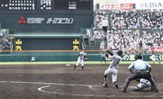 広陵・中村、清原を抜く大会新6本塁打!左翼席に同点ソロ