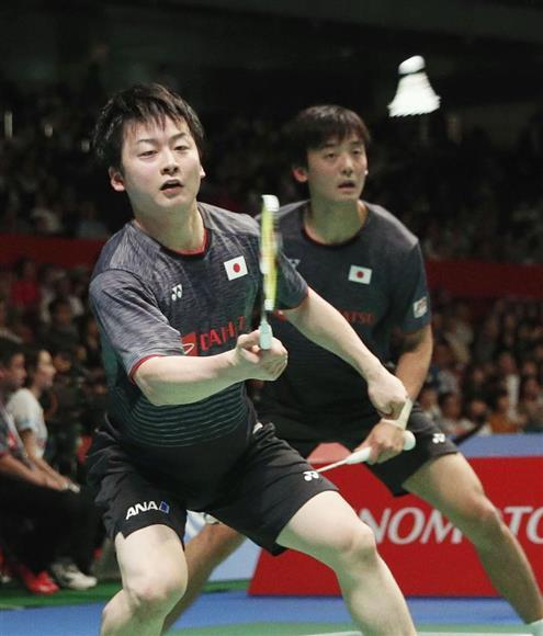 ジャパン・オープン男子複で優勝は逃したものの、井上(手前)、金子組は「イノカネ」の名を知らしめた