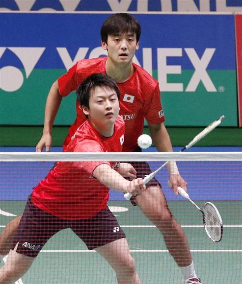 ジャパン・オープン男子複で準優勝だったものの、井上(手前)、金子組は「イノカネ」の名を知らしめた