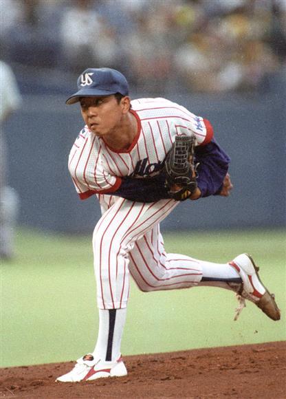 入団1年目のヤクルト・伊藤智仁投手(1993年6月撮影)
