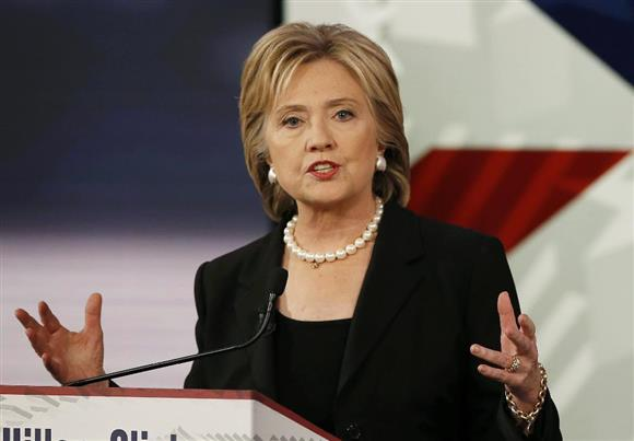 民主党のヒラリー・クリントン前国務長官(ロイター)