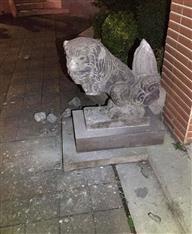 日本統治時代のこま犬壊す 八田氏像損壊の元台北市議