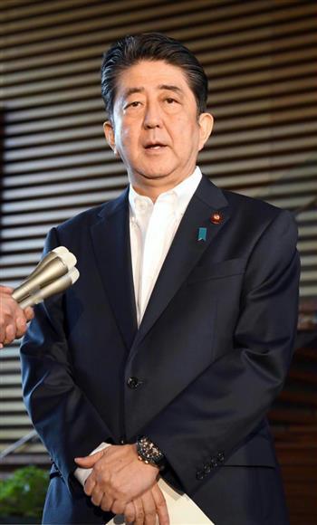 安倍首相は北朝鮮を強く非難した=29日午前、官邸